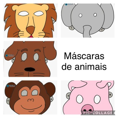Máscaras para estimular onomatopéias